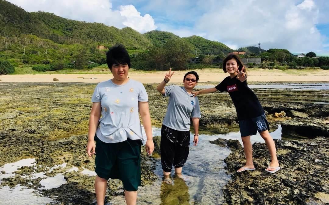 掃除と海水浴
