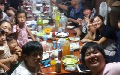 パッションフルーツと料理と宴