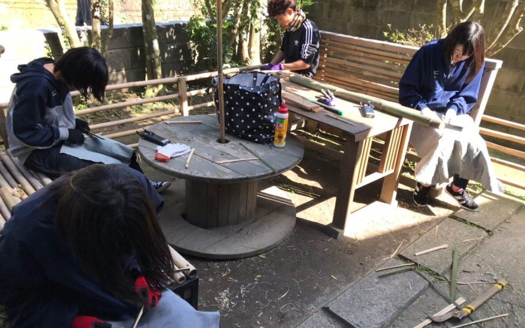 感動の卒業式、そして竹細工