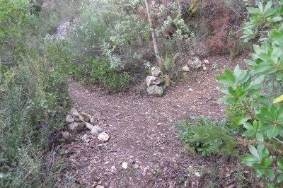 bifurcación fuente de l'Argilagar-Sant Onofre-Cueva dels Porcs