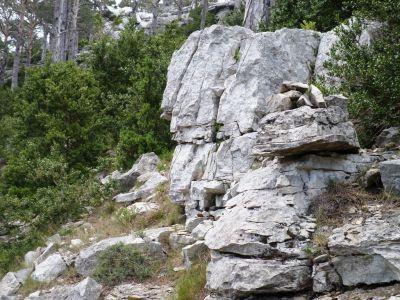 hitos de piedra nos guían