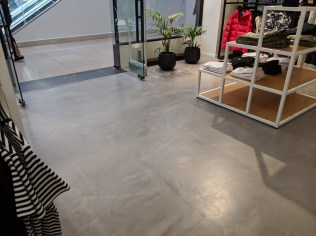 concrete floor finish retail