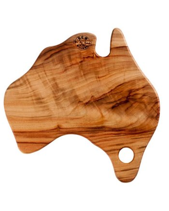 Australia shaped chopping board