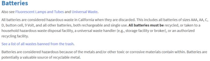 California bans batteries in bins