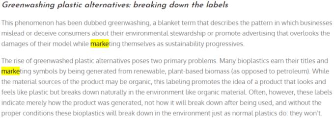 Greenwashing term