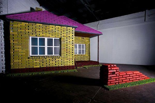 Egg carton Lego house