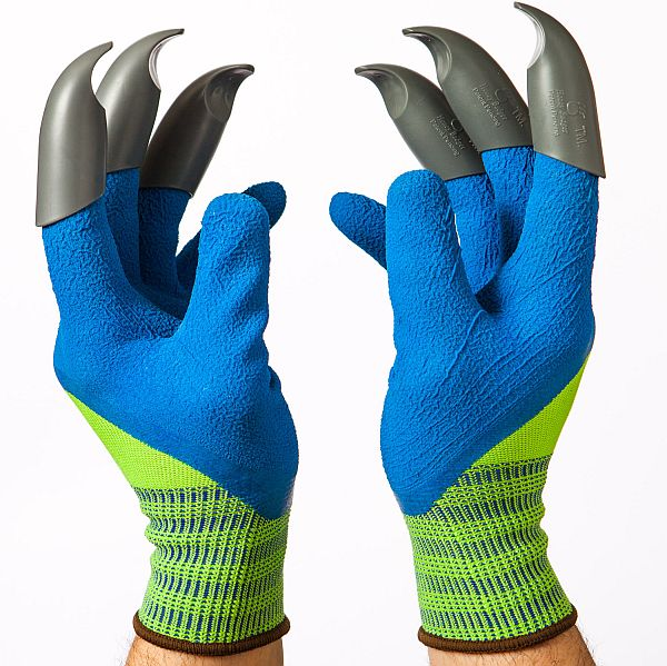 Garden gloves with cutting tool