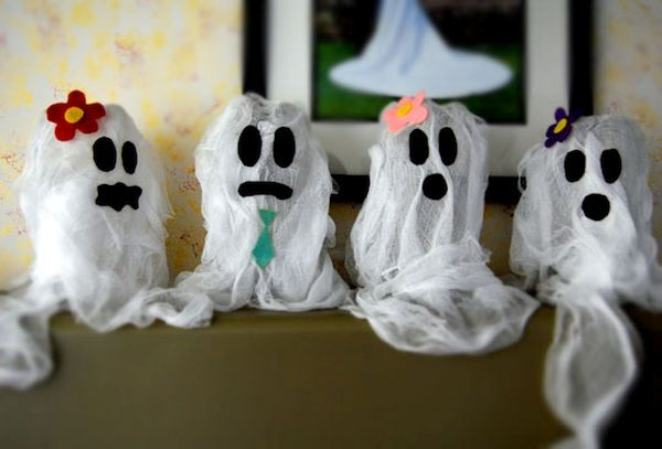Recycled water bottle ghosts