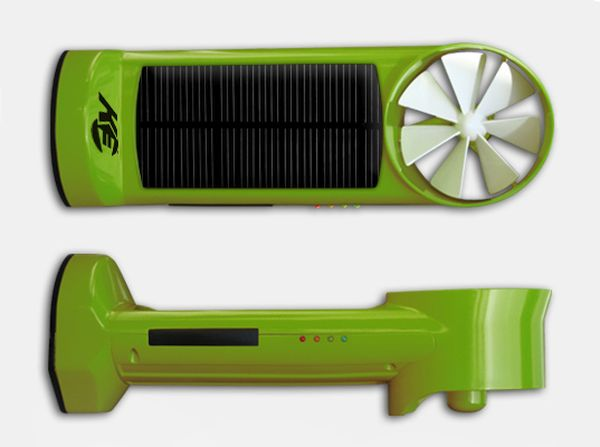 Solar and wind powered chargers