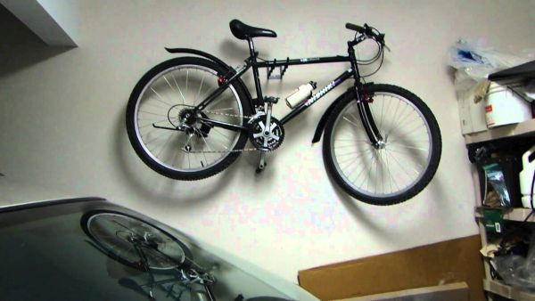 Hanging  bike in garage