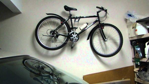 Hanging  bike in garage