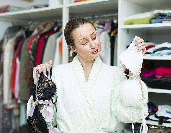 Housewife choosing underwear