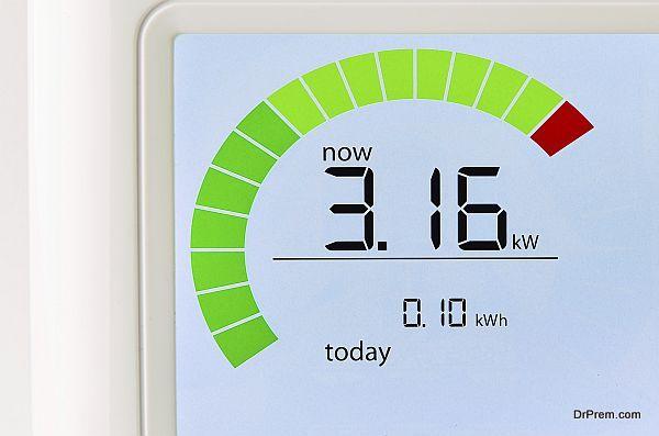 Household energy usage meter