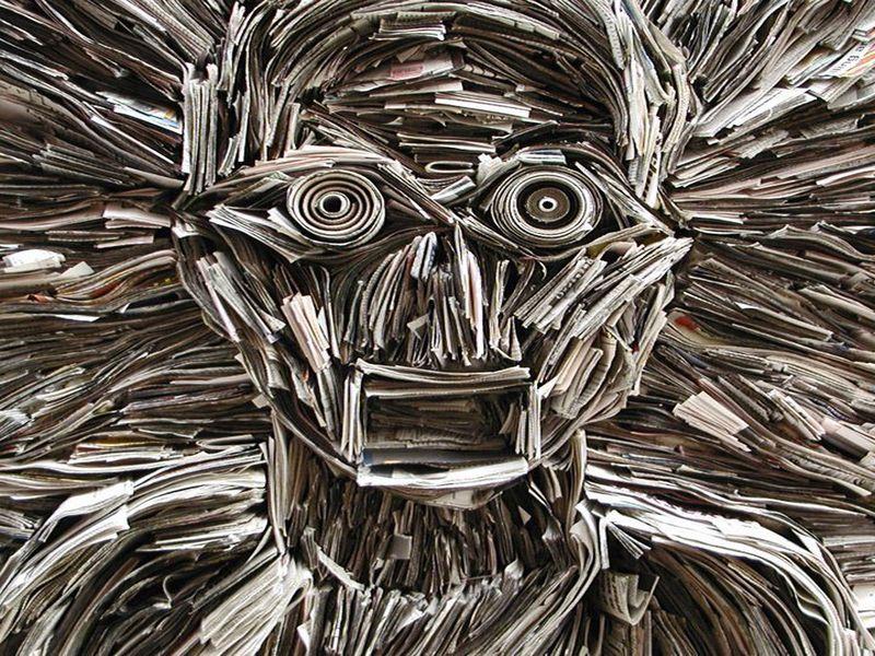 Newspaper Sculptures by Nick Georgiou