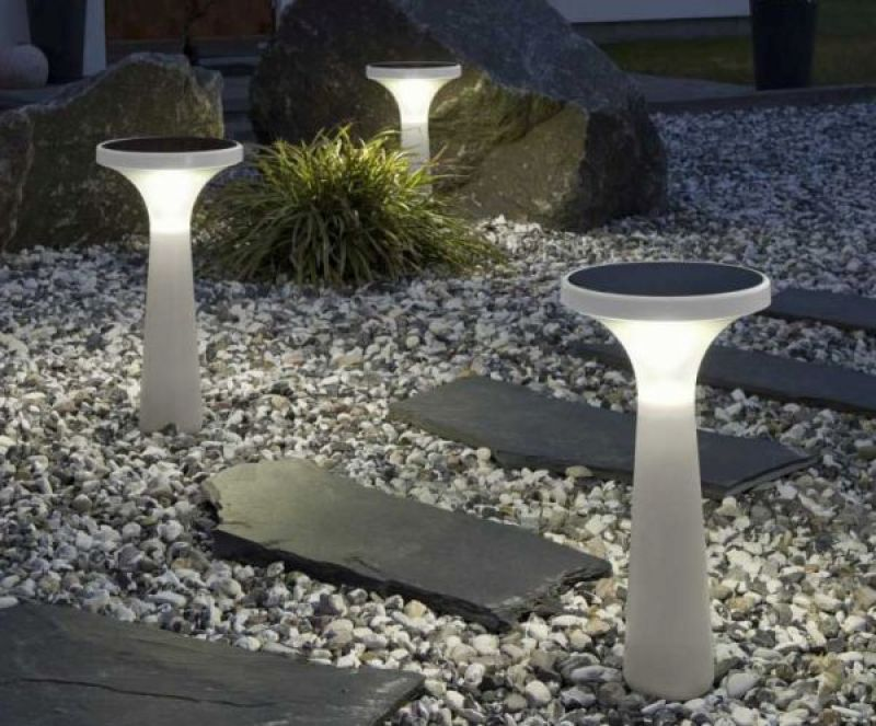 solar powered garden lights.