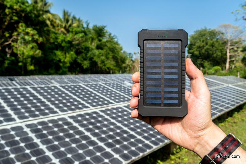 Solar powered product