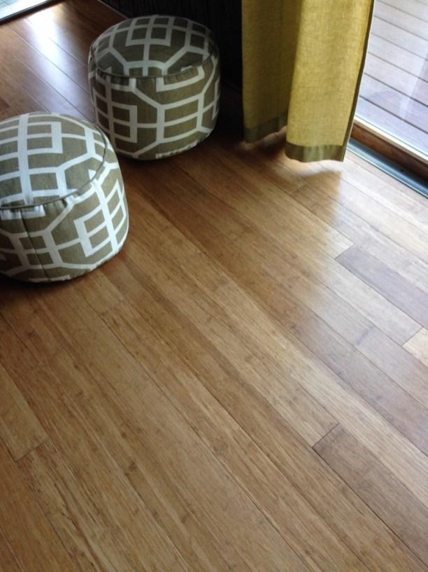 Carbonized Fibre Strand bamboo in a Sunroom