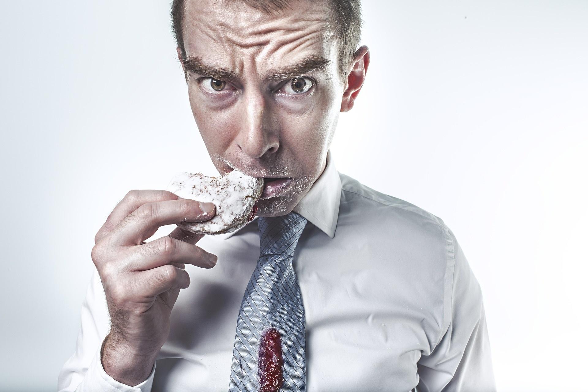 emotional eating food stress man worry