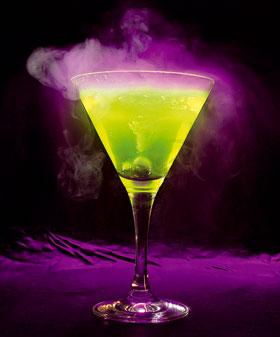 green Christmas cocktail