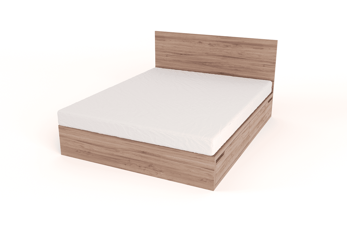 drawer bed with headboard queen size