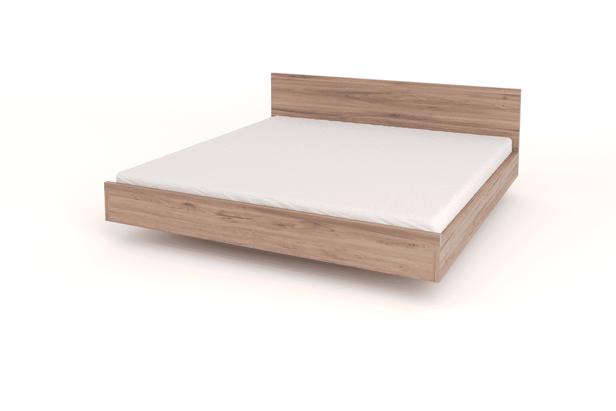 King Size Floating Bed With Headboard Bedroom Furniture