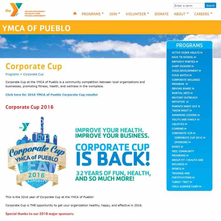 Corporate Cup at the YMCA of Pueblo