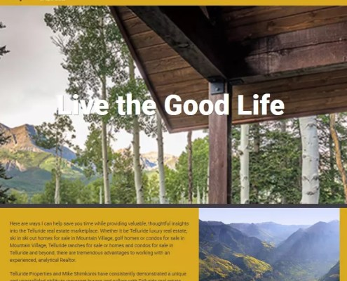 Telluride Area Homes Website