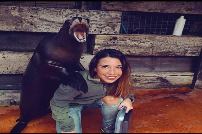 Foto con leona marina