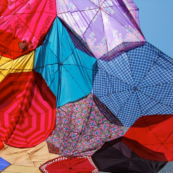Upcycled umbrellas sun shade by Jenny on Flickr • Reusing Umbrellas | ecogreenlove