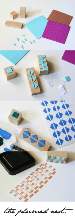 DIY Upcycled Custom Stamps | ecogreenlove