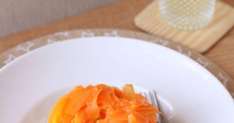 Timbal de judías, zanahoria, patata y huevo cocido