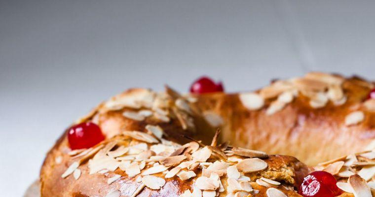 Roscón de Reyes de calabaza con trufa de chocolate