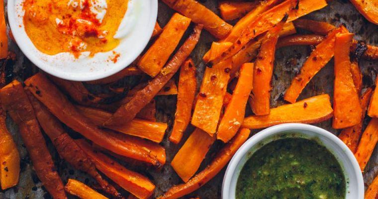 Zanahorias asadas con limón y especias