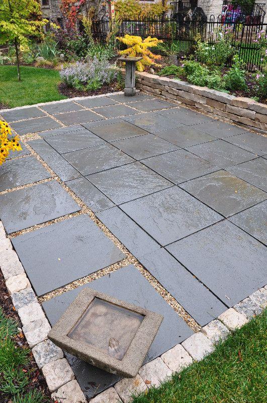bluestone patio custom pattern modern