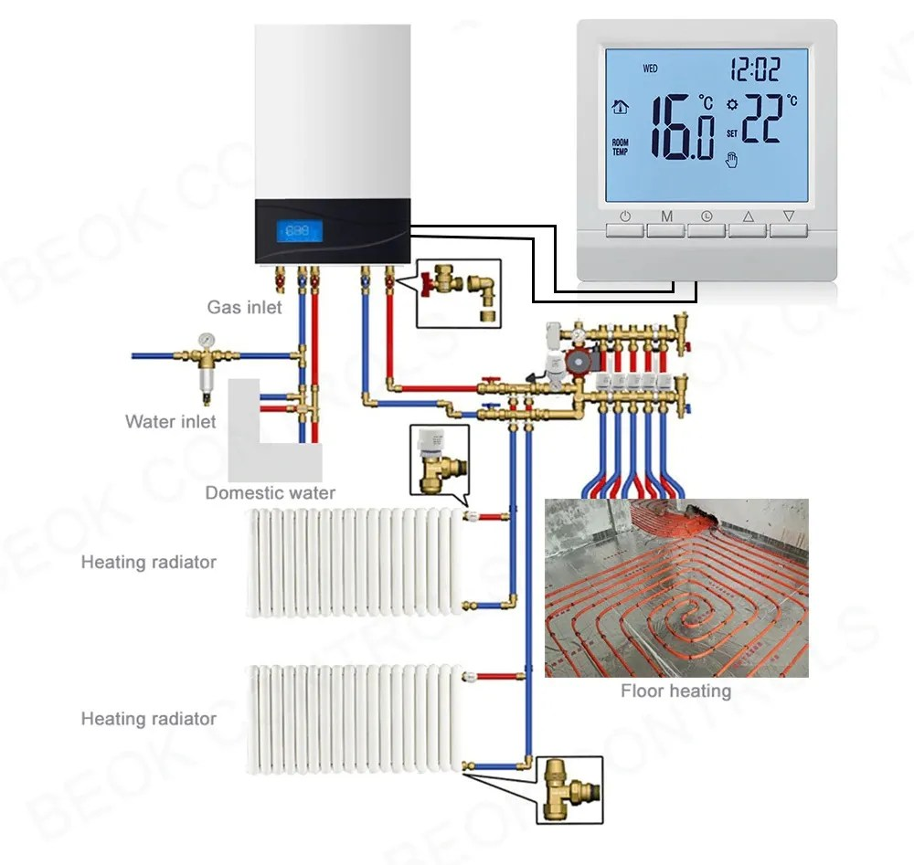 Gas Boiler Regulator Connection Diagram