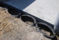 Tyres also used to hold stones and retain soil for drainage