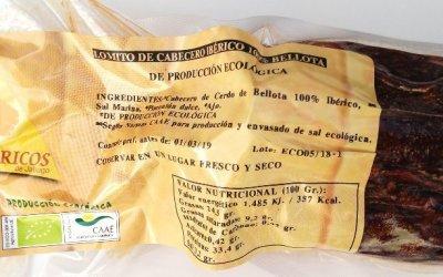 LOMITO ECOLÓGICO DE CABEZA DE LOMO 100% IBÉRICO DE BELLOTA. ECOIBÉRICOS® 1Kg