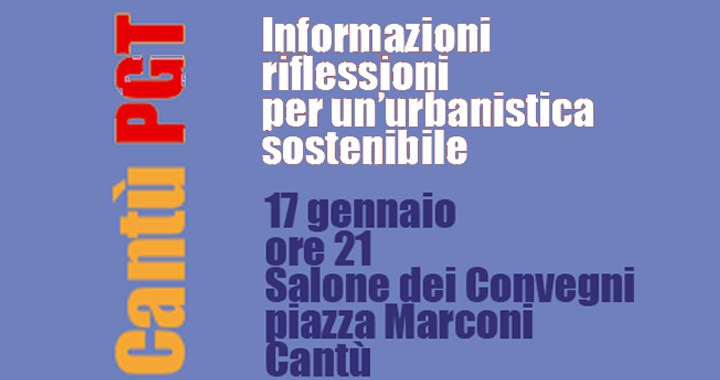 Per un'urbanistica sostenibile: l'incontro a Cantù