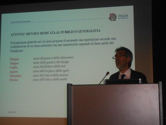 Paolo Verri spiega le attività di Padiglione Italia a Expo 2015