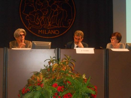 Da sinistra: Gisella Introzzi, Paolo Verri, Silvia Magni