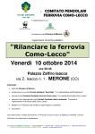 INCONTRO FERROVIA COMO-LECCO 2014