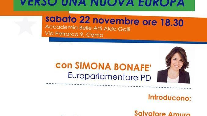 22 novembre/ Bonafè all'accademia Galli verso una nuova Europa