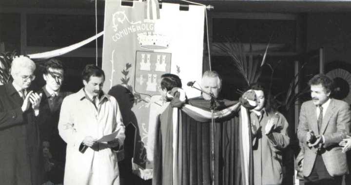 Bruno Saladino e Sergio Mattarella al Terragni