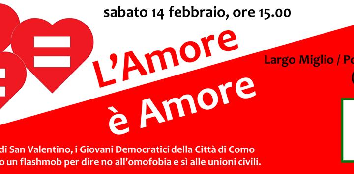 14 febbraio/ L'Arci aderisce al flashmob dei Giovani democratici