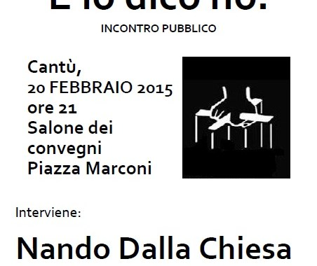 20 febbraio/ Nando dalla Chiesa a Cantù