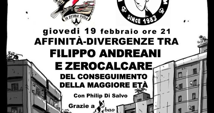19 febbraio/ Zerocalcare incontra Filippo Andreani alla Feltrinelli