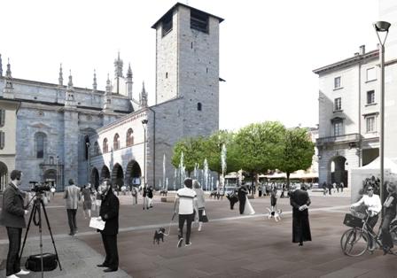 Palazzo Cernezzi si impunta su piazza Grimoldi