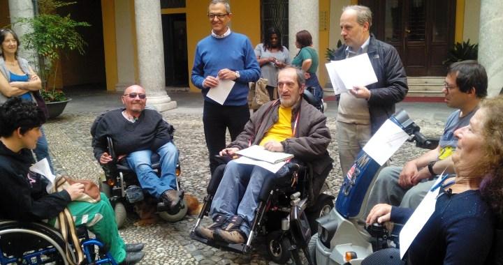 Como dal basso a Palazzo Cernezzi per la vita indipendente