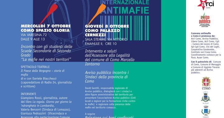7 e 8 ottobre/ Carovana antimafie a Como