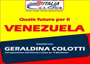 13 febbraio/ Italia Cuba/ Incontro con Geraldina Colotti